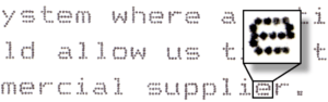 Dot Matrix Example Text