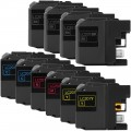 Compatible Brother LC201 (10-pack) Ink Cartridges