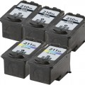 Replacement Canon PG-210XL / CL-211XL (5-pack) Ink Cartridges