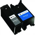 Compatible Dell Series 22 T091N / T092N (2-pack) Ink Cartridges