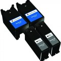 Compatible Dell Series 24 T109N / T110N (4-pack) Ink Cartridges