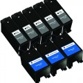 Compatible Dell Series 24 T109N / T110N (8-pack) Ink Cartridges