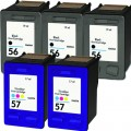 Replacement HP 56 / HP 57 (5-pack) Ink Cartridges