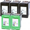 Replacement HP 94 / HP 95 (5-pack) Ink Cartridges