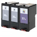 Replacement Lexmark 36XL / 37XL (3-pack) HY Ink Cartridges