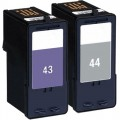 Replacement Lexmark 44XL / 43XL (2-pack) HY Ink Cartridges