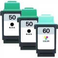 Replacement Lexmark 50 / 60 (3-pack) Ink Cartridges