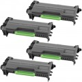 Compatible Brother TN850 (4-Pack) HY Black Toner Cartridges
