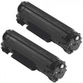 Replacement Canon 125 (2-Pack) Black Toner Cartridges