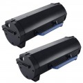 Compatible Dell B2360 (2-pack) HY Black Toner Cartridges