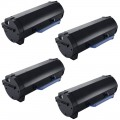 Compatible Dell B2360 (4-pack) HY Black Toner Cartridges