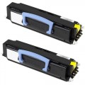 Replacement Dell 1700 / 1710 (2-pack) Black Toner Cartridges