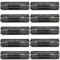 Replacement HP 35A / CB435A (10-pack) Black Toner Cartridges