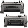 Replacement HP 90A / CE390A (2-pack) Black Toner Cartridges