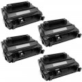 Replacement HP 81A / CF281A (4-pack) Black Toner Cartridges
