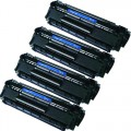 Replacement HP 12A / Q2612A (4-pack) Black Toner Cartridges