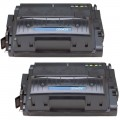 Replacement HP 42X / Q5942X (2-pack) Black Toner Cartridges