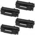 Replacement HP 53X / Q7553X (4-pack) HY Black Toner Cartridges