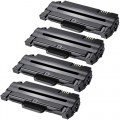 Compatible Samsung 105 MLT-D105L (4-pack) HY Black Toner Cartridges