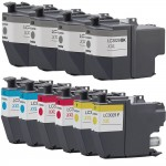 Brother LC3029 Compatible (10-pack) High Yield Ink Cartridges (4x Black, 2x Cyan, 2x Magenta, 2x Yellow)
