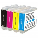 Brother LC51 Compatible (4-pack) Ink Cartridges (1x Black, 1x Cyan, 1x Magenta, 1x Yellow)