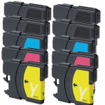 Brother LC65 Compatible (10-pack) High Yield Ink Cartridges (4x Black, 2x Cyan, 2x Magenta, 2x Yellow)