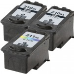 Canon PG-210XL Black & CL-211XL Color Replacement (3-pack) High Yield Ink Cartridges (2x Black, 1x Color)