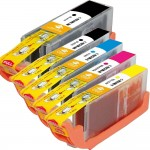 Canon PGI-250XL / CLI-251XL Compatible (5-pack) High Yield Ink Cartridges (1x Pigment Black, 1x Black, 1x Cyan, 1x Magenta, 1x Yellow)