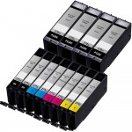 Canon PGI-270XL / CLI-271XL Compatible (12-pack) High Yield Ink Cartridges (4x Pigment Black, 2x Black, 2x Cyan, 2x Magenta, 2x Yellow)