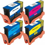 Replacement Ink (4-pack) for Dell Series 33 / 34 Extra High Yield Ink Cartridges (1x Black, 1x Cyan, 1x Magenta, 1x Yellow)