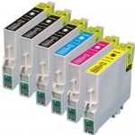 Epson 60 T060 Series (6-pack) Remanufactured Ink Cartridges (3x Black, 1x Cyan, 1x Magenta, 1x Yellow)