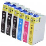 Epson 88 T088 Series (6-pack) Remanufactured High Yield Ink Cartridges (3x Black, 1x Cyan, 1x Magenta, 1x Yellow)