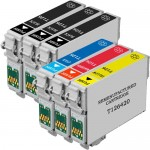 Remanufactured Epson 126 Ink Cartridge Combo Pack of 6 - High Yield - (3x Black, 1x Cyan, 1x Magenta, 1x Yellow)