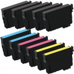 Epson 220XL T220XL Series (11-pack) Remanufactured High Yield Ink Cartridge (5x Black, 2x Cyan, 2x Magenta, 2x Yellow)