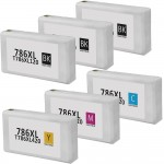 Epson 786XL T786XL Series (6-pack) Remanufactured High Yield Ink Cartridge (3x Black, 1x Cyan, 1x Magenta, 1x Yellow)