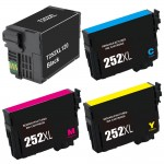 Epson 252XL Combo Pack of 4 Remanufactured High Yield Ink Cartridge (1x Black, 1x Cyan, 1x Magenta, 1x Yellow)