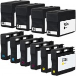 HP 932XL Combo Pack of 10 Replacement Ink Cartridges - HP 932XL & HP 933XL - High Yield - (4x Black, 2x Cyan, 2x Magenta, 2x Yellow)