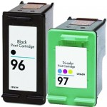 Replacement HP Ink 96 97 Combo Pack of 2 cartridges - C8767WN Black & C9363WN Color (1x Black, 1x Color)