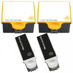 Kodak #10 / 1215581 Black & Kodak #10 / 1810829 Color Compatible Ink Cartridges (2x Black, 2x Color)