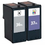 Lexmark 36XL / 18C2170 Black & Lexmark 37XL / 18C2180 Color (2-pack) High Yield Replacement Ink Cartridges (1x Black, 1x Color)