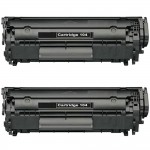 Canon 104 / FX9 / FX10 (2-pack) Replacement Black Laser Toner Cartridges (0263B001A)