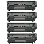 Canon 104 / FX9 / FX10 (4-pack) Replacement Black Laser Toner Cartridges (0263B001A)
