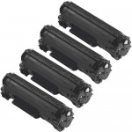 Canon 125 (4-pack) Replacement Black Laser Toner Cartridges (3484B001AA)