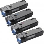 Compatible (4-pack) High Yield Toner Cartridges for Dell 2150 / 2155 (1x Black, 1x Cyan, 1x Magenta, 1x Yellow)