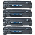 HP 85A / CE285A (4-pack) Replacement Black Laser Toner Cartridges