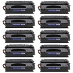 HP 49X / Q5949X (10-pack) Replacement High Yield Black Laser Toner Cartridges