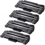 Replacement (4-pack) MLT-D105L for Samsung 105 High Yield Black Laser Toner Cartridges (MLT-D105)