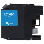 Brother LC103C Compatible High Yield Cyan Ink Cartridge (LC103 Series)