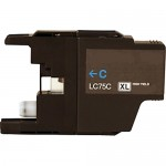 Brother LC75C Compatible High Yield Cyan Ink Cartridge (LC75 Series)