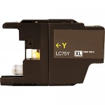 Brother LC75Y Compatible High Yield Yellow Ink Cartridge (LC75 Series)
